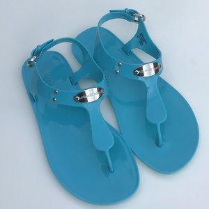 Michael Kors MK Plate Jelly Thong Sandals